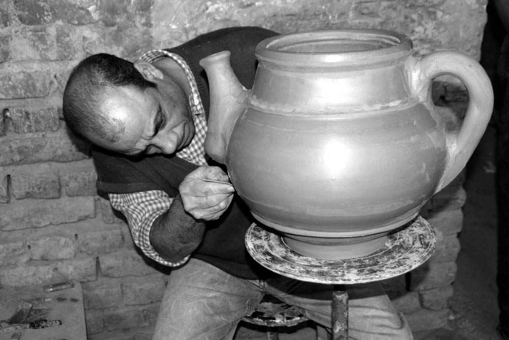 Man Making Large Pot, Cairo, Egypt