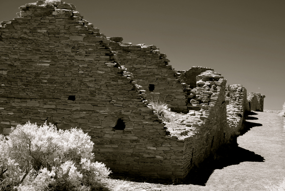 Chaco Canyon, Casa del Arroyo in Infrared 2012