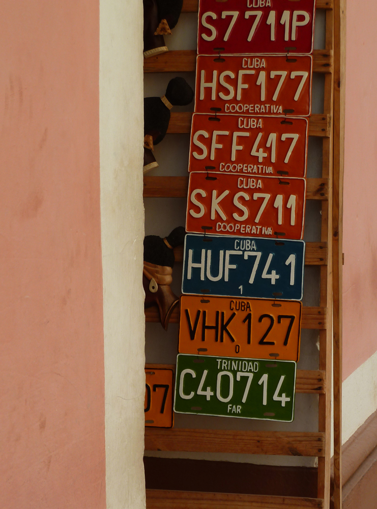 Cuban License Plates, Trinidad 2011