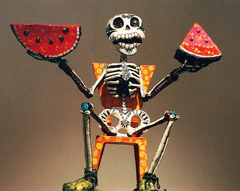 Days of the Dead, Mexico, Death with Watermelon