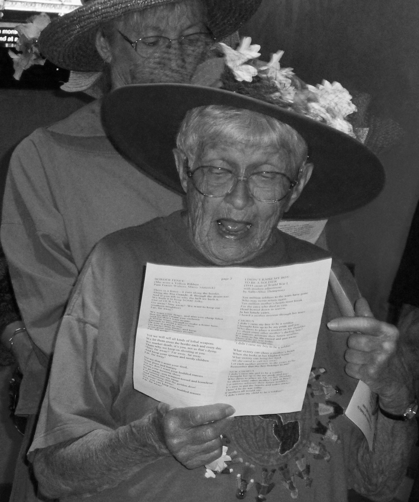 Floy Barrett of the Raging Grannies 2010