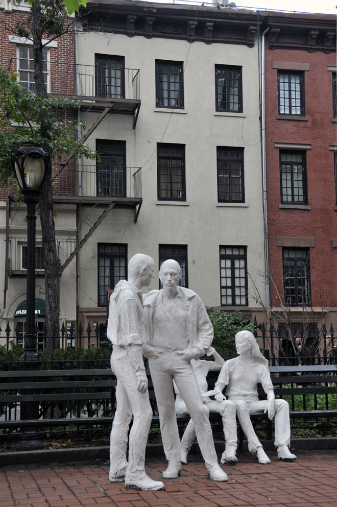 George Segal Monument to Gay Pride, Sheridan Square, NY 2011