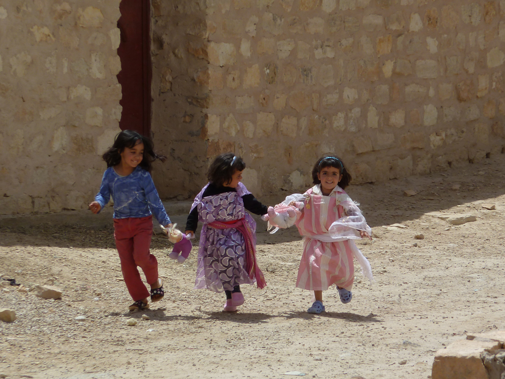 Girls, Village of Chenini, Tunisia