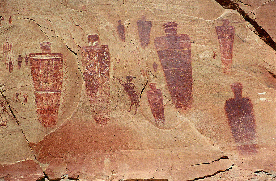 Barrier Canyon Pictographs, Great Gallery, Utah