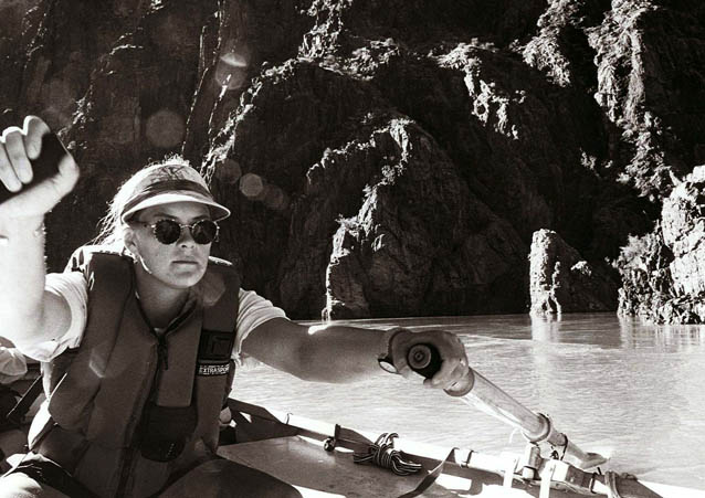 Jano at the Oars, Colorado River, Grand Canyon, Arizona