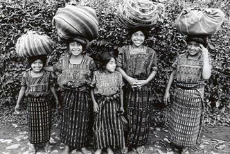 Girls on Street, Panajachel, Guatemala