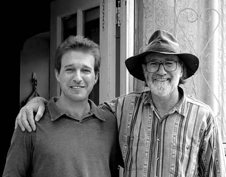 John Randall (brother) and son Shanti, 2005