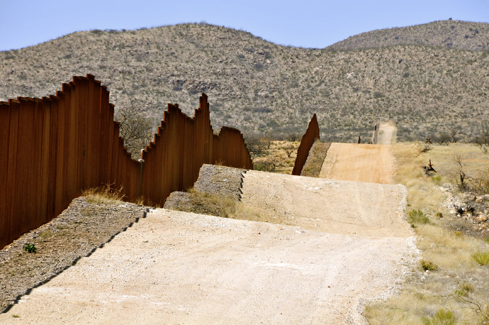 Border Wall, Near Sasabe, Arizona-Mexico Border