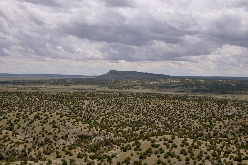 Looking Out from Petroglyph Hill, Galisteo Basin