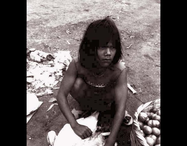 Girl Selling Fowl, Managua, 1979