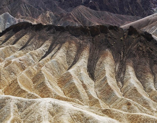 Looking Out from Zabriskie Point, Death Valley, California