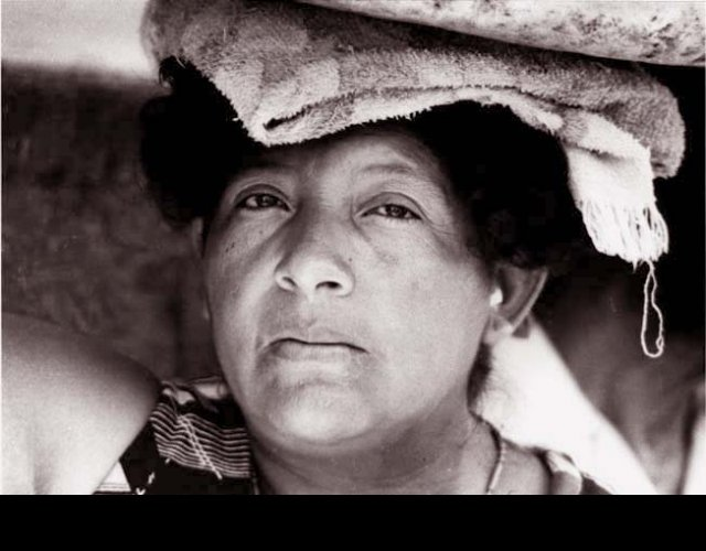 Woman with Towel on Head, Managua