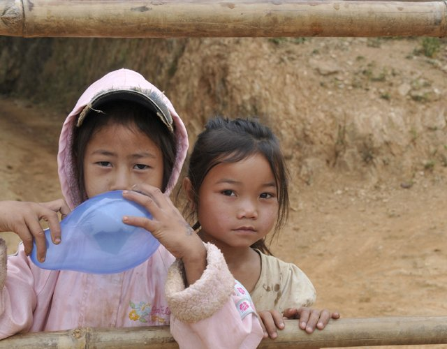 Children, Laos Village 2011
