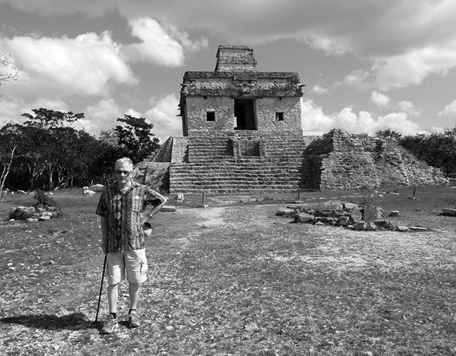 George Bowering in the Yucatan 2018