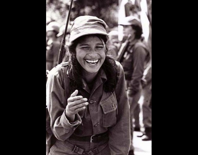Sandinista Soldier, Laughing