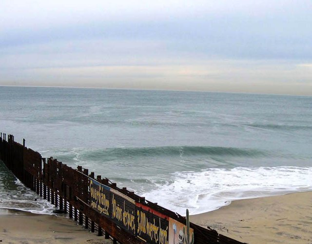 """The Corner of Latin America"" - Fence Dividing Mexico and U.S. at Tijuana"